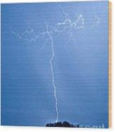 Electric Night Wood Print
