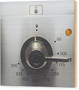 Electric Oven Dial Wood Print