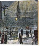 Electric Streetlight, 1881 Wood Print