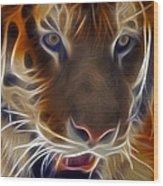 Electric Tiger Wood Print