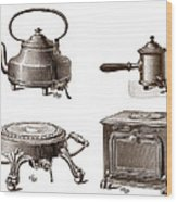 Electrical Appliances, 1900 Wood Print by Sheila Terry