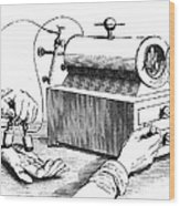 Electrical Device, 1876 Wood Print