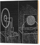 Electrical Phenomena, 19th Century Wood Print