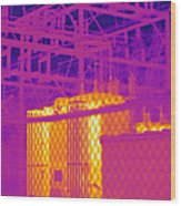 Electrical Substation Wood Print