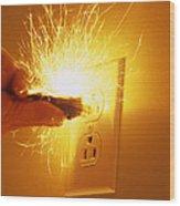 Electrocution Hazard Wood Print