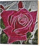 Electrostatic Rose Wood Print