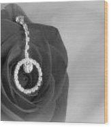 Elegance In Black And White Wood Print