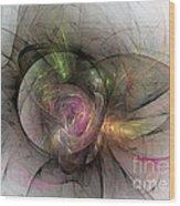 Elegant Beauty - Abstract Art Wood Print