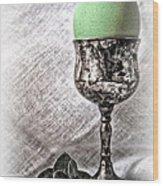 Elegant Green Easter  Wood Print