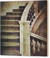 Elegant Staircase Wood Print