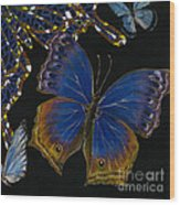 Elena Yakubovich - Butterfly 2x2 Lower Right Corner Wood Print