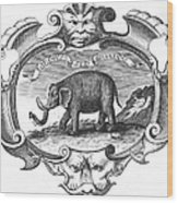 Elephant, 17th Cent Wood Print