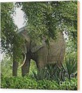Elephant Beauty Wood Print