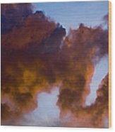 Elephant Cloud Wood Print