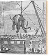 Elephant Hoist, 1858 Wood Print
