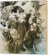 Elephants Gone Wild Wood Print