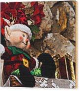 Elf On Shelf Wood Print