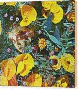 Elfin Child Of Poppies Wood Print by Cyoakha Grace