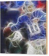 Eli Manning Ny Giants Wood Print