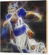 Eli Manning Quarterback Wood Print