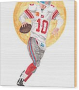 Eli Manning Superbowl Xlvi Mvp Wood Print