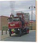 Elizabeth - Steam Bus At Whitby Wood Print