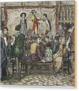 Elizabethan Theatre Wood Print