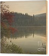 Elk Creek Reservoir Wood Print