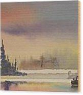 Elk Island Sundown 1 Wood Print