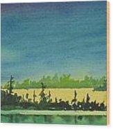 Elk Island Sundown 2 Wood Print