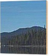 Elk Lake Oregon Panorama Wood Print