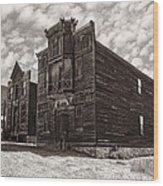 Elkhorn Ghost Town Public Halls 3 - Montana Wood Print