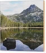 Elkhorn Mountain Reflection Wood Print