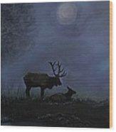 Elks Love Wood Print