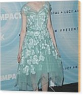 Elle Fanning Wearing A Dress By Marc Wood Print by Everett