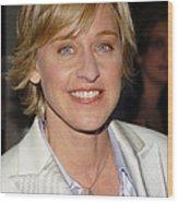 Ellen Degeneres Arrives On The Red Wood Print