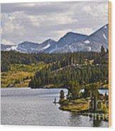 Ellery Lake Wood Print