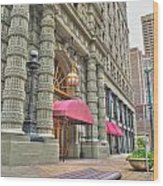 Ellicott Square Building And Hsbc Wood Print