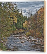 Ellis River Autumn Wood Print