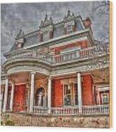 Ellwood Mansion Wood Print by Dan Crosby