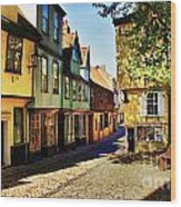 Elm Hill Norwich England Wood Print