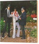Elvis And The Blues Wood Print
