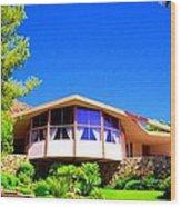 Elvis Honeymoon House Wood Print