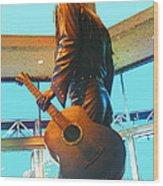 Elvis In Bronze At Memphis Wood Print