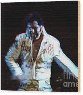 Elvis Is Alive Wood Print