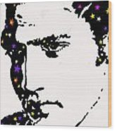 Elvis Living With The Stars Wood Print