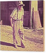 Elwood - Farmer Wood Print