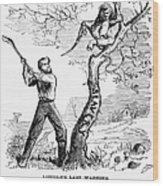 Emancipation Cartoon, 1862 Wood Print