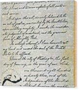 Emancipation Proc., P. 4 Wood Print