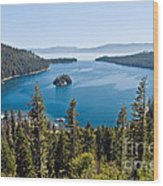 Emerald Bay Morning Wood Print